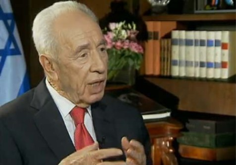 President Shimon Peres on Israel&#039;s Channel 2 News Thursday