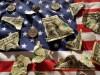 American Flag Ripped Dollar Bills