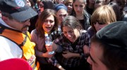 Mourners at the funeral for the victims of Monday&#039;s shooting in Toulouse in Jerusalem, March 21, 2012.