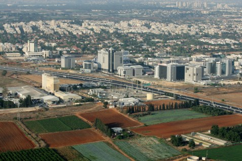 airview of Raanana