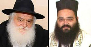 Mashpia Reb Shlomo Zarchi (left) and chazzan Rabbi Yossy Lebovics (right).