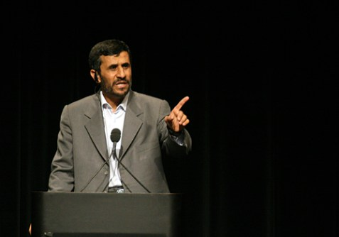 "Mahmoud Agmadinejad tells Columbia University students ""We don't have homosexuals in Iran,"" September 24, 2007."