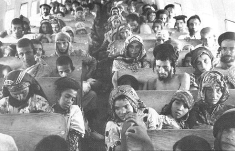 "In the course of the operation ""Magic Carpet"" (1949-1950), the entire community of Yemenite Jews (called Teimanim, about 49,000) immigrated to Israel on ""the wings of eagles."""