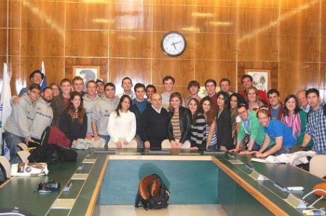 Members of the Young Jewish Conservatives on their inaugural Israel trip meet with Jewish Agency Chair Natan Sharansky, December, 2011.
