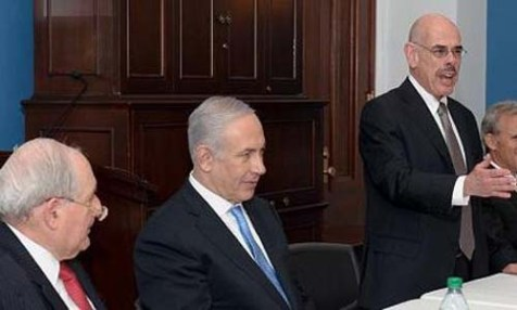 Rep. Henry Waxman (D Ca., on right) with PM Netanyahu and Senator Carl Levin (D Mi., on left).