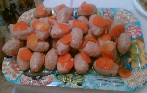 Gefilte fish balls.