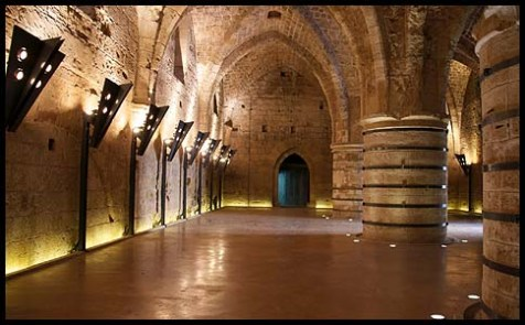 Crusader dining room under the city of Akko