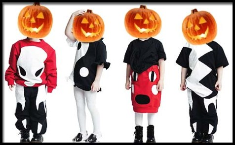 kids turned pumpkins