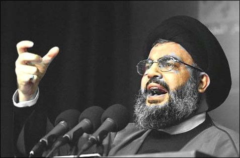 Lebanon-based Hezbollah terrorist leader Hassan Nasrallah. (archive)