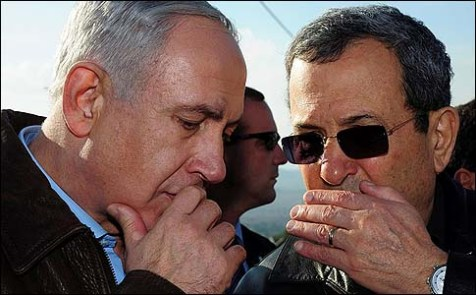 Prime Minister Benjamin Netanyahu and Defense Minister Ehud Barak.