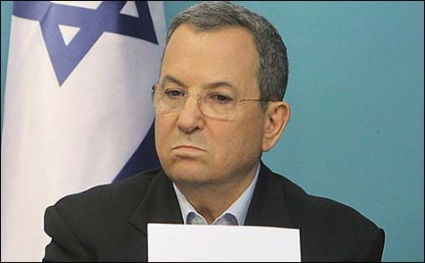 Israel&#039;s Defense Minister Ehud Barak at a press conference at the PM&#039;s office in Jerusalem, announcing a ceasefire. November 21, 2012.
