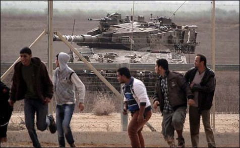 Young Arabs faced an Israeli tank last Friday, and the tank came out the loser, because we communicate with the other side in Hebrew, not Arabic.