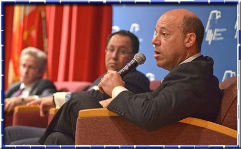Former White House Press Secretary and political pundit Ari Fleischer at a packed pro-Romney Jewish event Last Thursday.