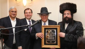 Melaveh malkah presentation to Yisroel Borgen by Rabbi Levi Yitzchok Leifer.