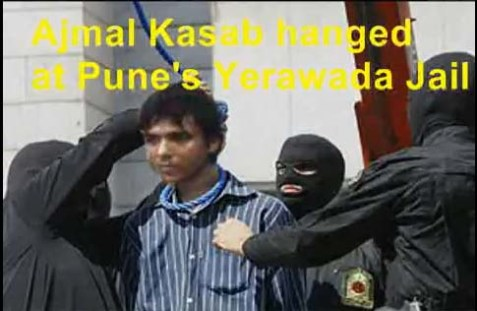 Mohammed Ajmal Amir Kasab hanged