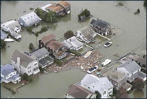 Sandy home damage