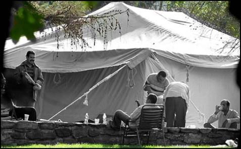 Muammar el-Qaddafi's tent.