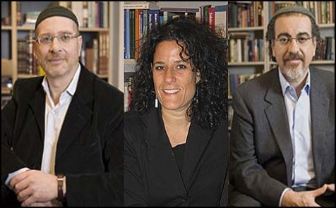 Rabbis J. Rolando Matalon (L), Felicia L. Sol, and Marcelo R. Bronstein.
