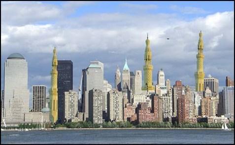 NY Skyline Blue Sky 08