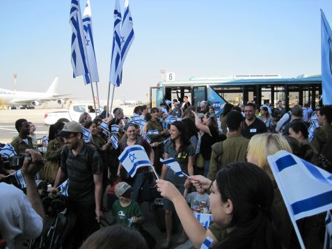 The annual summer surge in aliyah from teh US and Canada begins Tuesday morning, ehen Gilad Shalit escorts new olim