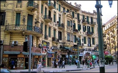 A street scene in Cairo, Egypt.