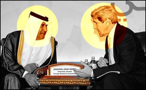 Sen. Kerry meeting with Qatari Prime Minister Hamad bin Jassim Al Thani in 2010.