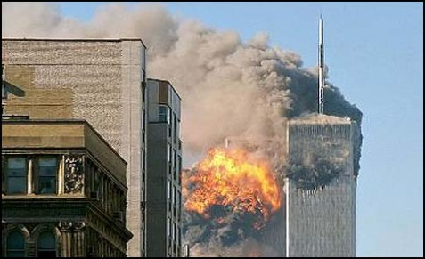 9/11 aerial attack on World Trade Center