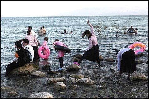 Girls in the Kinneret.