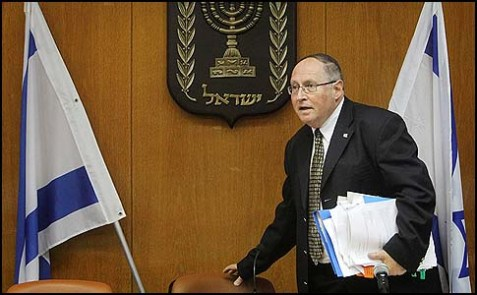 Chairman of the Central Elections Committee Justice Elyakim Rubinstein