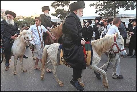 Rebbes on Horseback