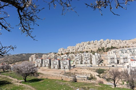A general view of new Jewish housing in the Israeli settlement Har Homa in the West Bank