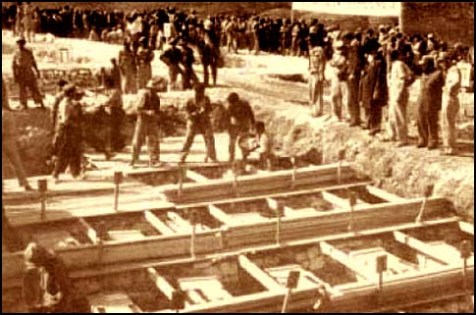 The 35 fallen are brought to their final resting place on Mt. Herzl in 1949.