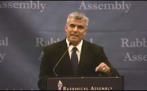 Yair Lapid at the 2012 convention of the Rabbinical Assembly in Atlanta.