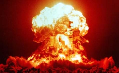 A nuclear Blast in the Nevada desert