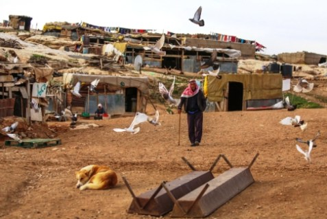 The Palestinian Authority backed by EU funds, has sent Bedouin into the E-1 area of Maaleh Adumim to claim it is part of their fictional history.  (Archive: Feb 2013)