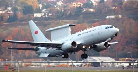 A Boeing 737 AEW&C MESA Peace Eagle in Seattle for repairs for Turkey, September 6, 2007.