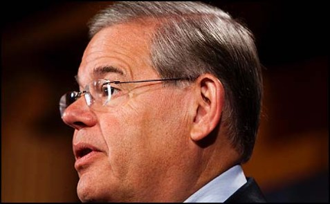 Sen. Robert Menendez is visiting Israel for the first time as chairman of the Senate Foreign Relations Committee.