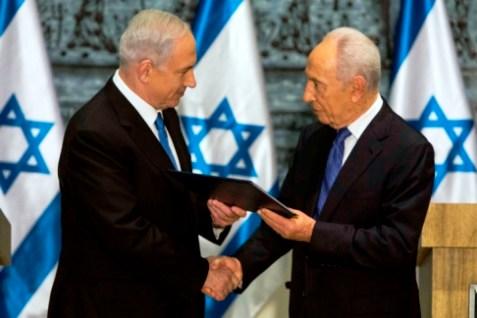 PM Binyamin Netanyahu, President Shimon Peres