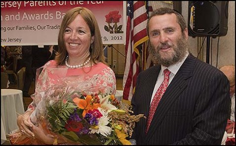 Rabbi Shmuley and Debbie Boteach were honored as New Jersey's Parents of the Year for 2012.