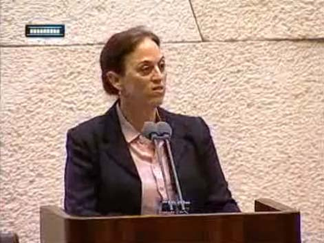 MK Dr. Ruth Calderon (Yesh Atid) speaking to the Knesset, February 12, 2013.
