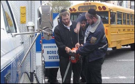 Boro Park Getting Ready for Hurricane Sandy, 2012.