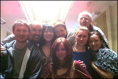 The Russian Arts Theater & Studio cast in the Stanton Street Shul sanctuary.