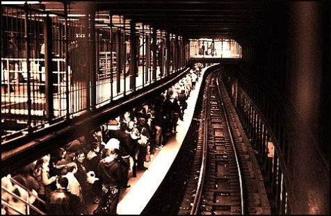 subway crowd