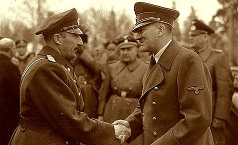 King Boris III (L), who refused to deport Bulgarian Jews, with a friend.