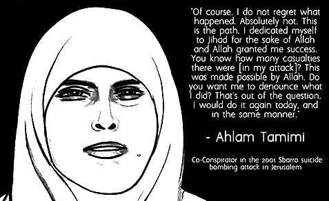 Murderer Ahlam Tamimi has no regrets.