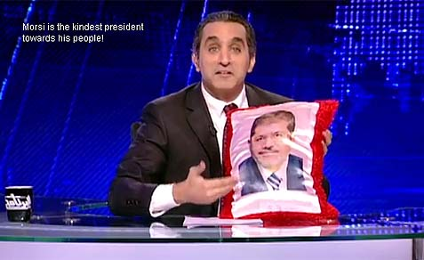 Bassem Youssef hosts a weekly satire show, El-Bernameg (The Show), on private satellite television channel CBC.