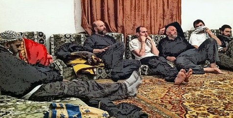Convoy members stuck in Libya, watching TV news in ex-Gadaffi House