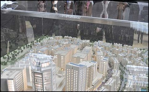 A model of Rawabi, a massive new construction project just north of of Ramallah. Netanyahu is considering turning over the entire system of roads that wili serve Rawabi.