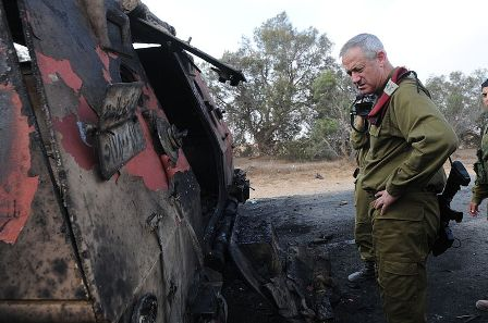 IDF Chief of Staff at site of attack by terrorists in the Sinai