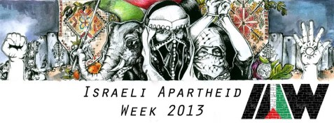 Harvard Israeli Apartheid Week banner